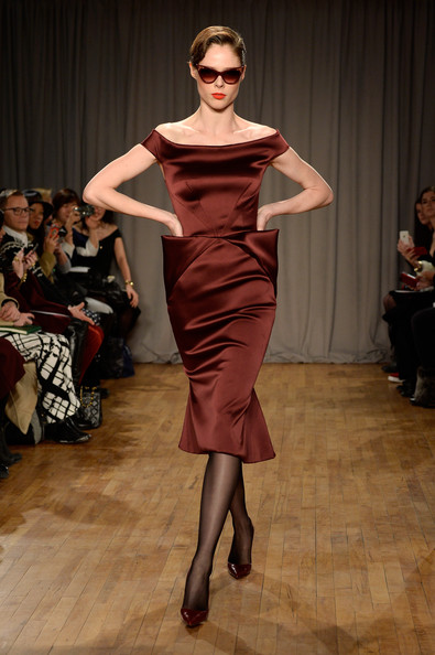 Coco Rocha wearing Fiona in Wine