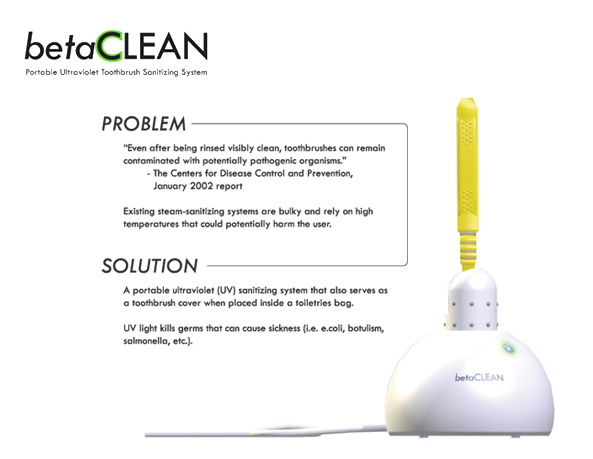 portable UV toothbrush sanitizer